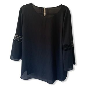 Cato black blouse with sleeve details size L